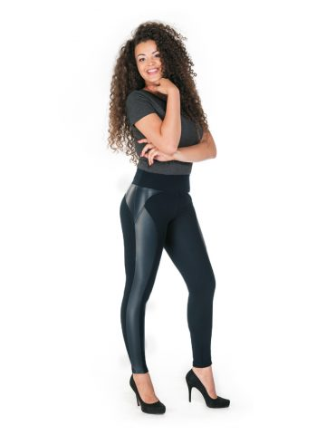 paulo connerti leather line leggings