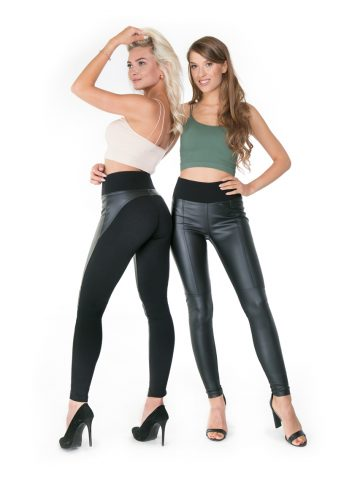 Leather line paulo connerti leggings