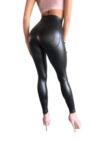 eco leather double push up leggings
