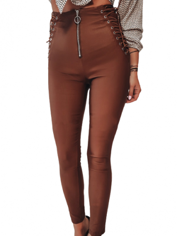 lace up side leggings