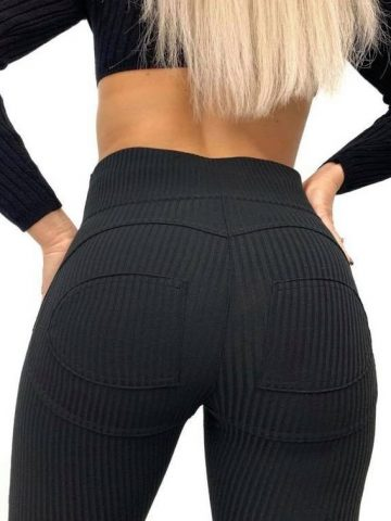 Ribbed double push-up leggings